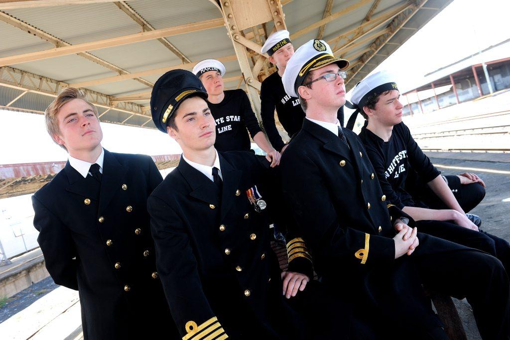 To perform in the Titanic musical are Mason Watts, Tim Stark, Tom Benham, Sean Johnston, Hugh Hansen and Cameron Seawright.