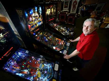 Corey Hamilton is starting up a Pinball club in Ipswich after winning a major tournament in NSW. Photo: Kate Czerny / The Queensland Times