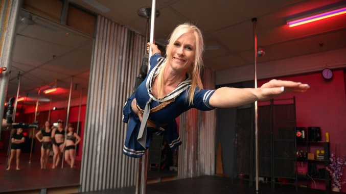 POLE POSITION: Tracey-Lee Lawrence from Bella Bliss Studios. Some dancers from the group have been asked to perform an opening sequence at the Queensland Pole Championships. Photo: Max Fleet / NewsMail