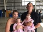 Flying doctors to the rescue for premi twins Chloe and Emily