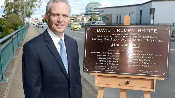 HE'D BE PROUD: David Trumpy's great nephew Robert Lawrence attended the 50th Anniversary of the opening of Ipswich's David Trumpy Bridge .