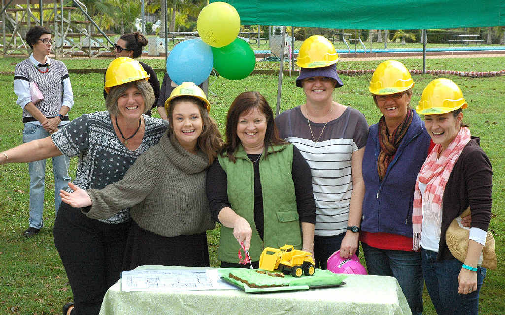 SOMETHING TO CELEBRATE: Teachers of the Alstonville Community Pre-school Jo Sandral, Bethany Wallace, Narelle Walker, Heidi Heinritz, Janet Noble, and Hannah Nunn celebrating the beginning of the build.