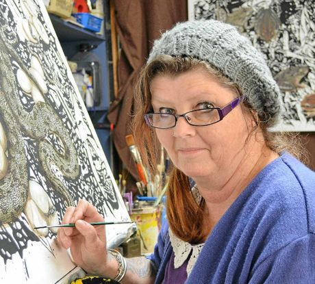 TALENTED: Sunshine Coast artist Fiona Groom's work will be showcased at Maroochydore Library this week.