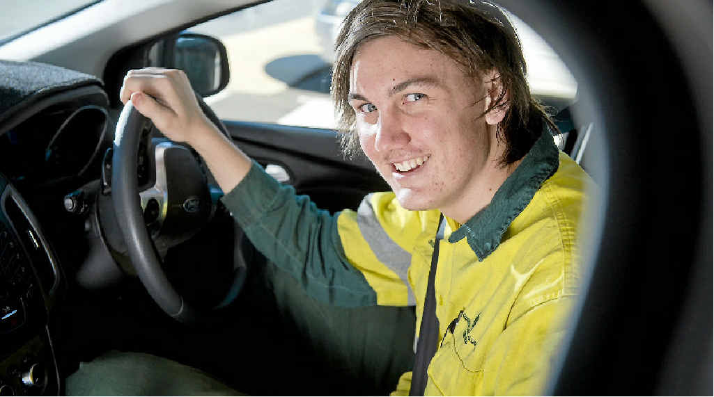 HITTING THE ROAD: Jessie Blick passed his provisional licence test three days before the tough new rules come in.