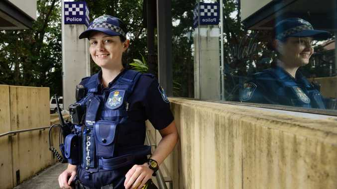 Constable Jess Sampson of Ipswich Police endured a hard battle to beat Leukemia before becoming a police officer. Photo: David Nielsen / The Queensland Times
