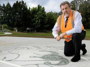 Vandals take shot at basketball court
