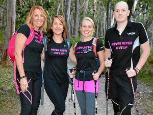 Late friend's words push team through 100km charity hike