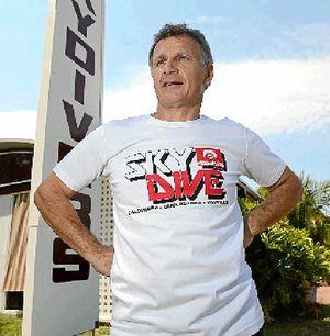 KEEN TO HELP: Sunshine Coast Skydivers owner Tibor Glesk.
