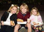 Ella Mason, 8, Alex Mason, 9, and Charlotte Mason, 6.