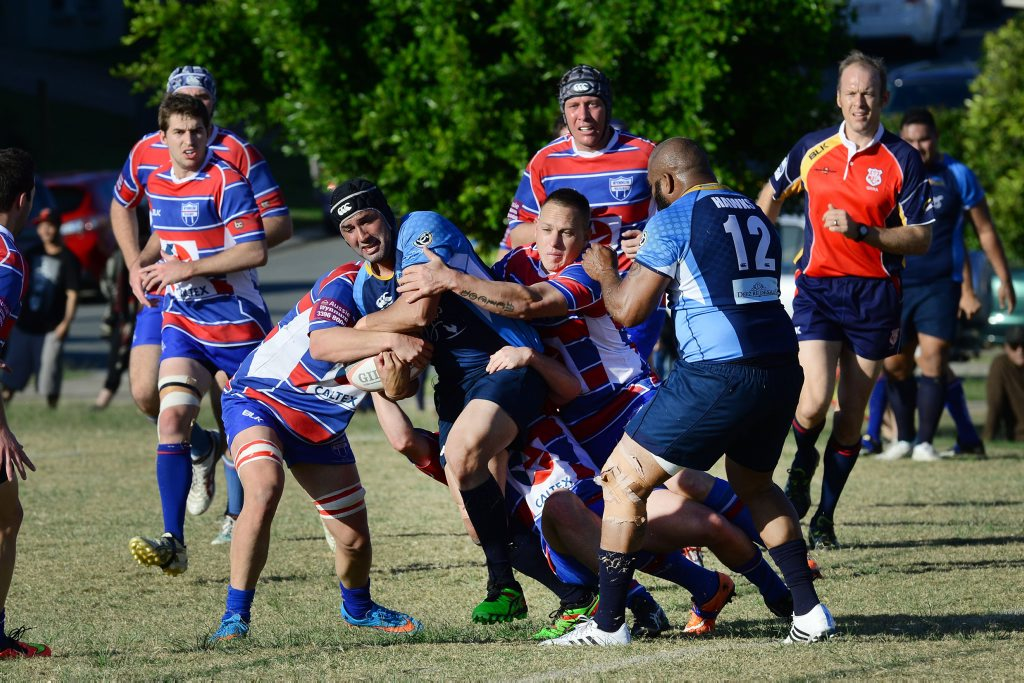Barber Cup Rugby Union match between Springfield Hawks Vs Wynnum at Springfield Lakes. Photo: David Nielsen / The Queensland Times