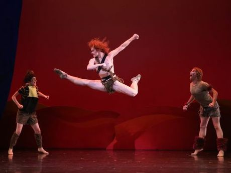 Rian Thompson as Peter Pan for Queensland Ballet. Photo: David Kelly (contributed)