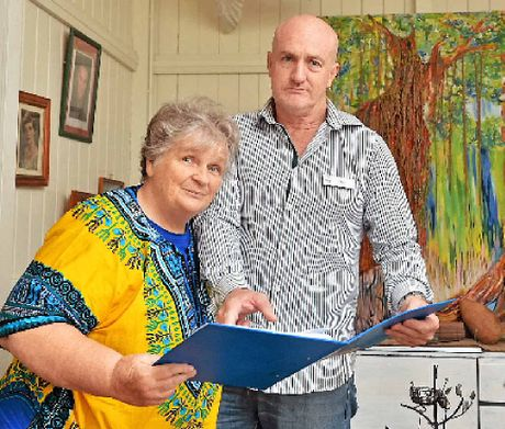 HOMELESS: Renee Porteous (left) and (above) people willing to help, Gympie's Doreen Beuthin with Sean Connelly.