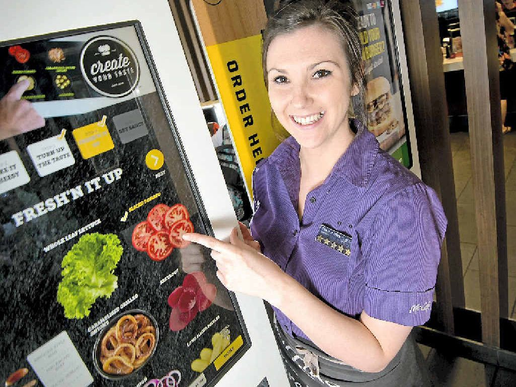 CREATE YOUR TASTE: Host Donna-May Summers has been assisting customers make their orders by using newly installed touchscreens.