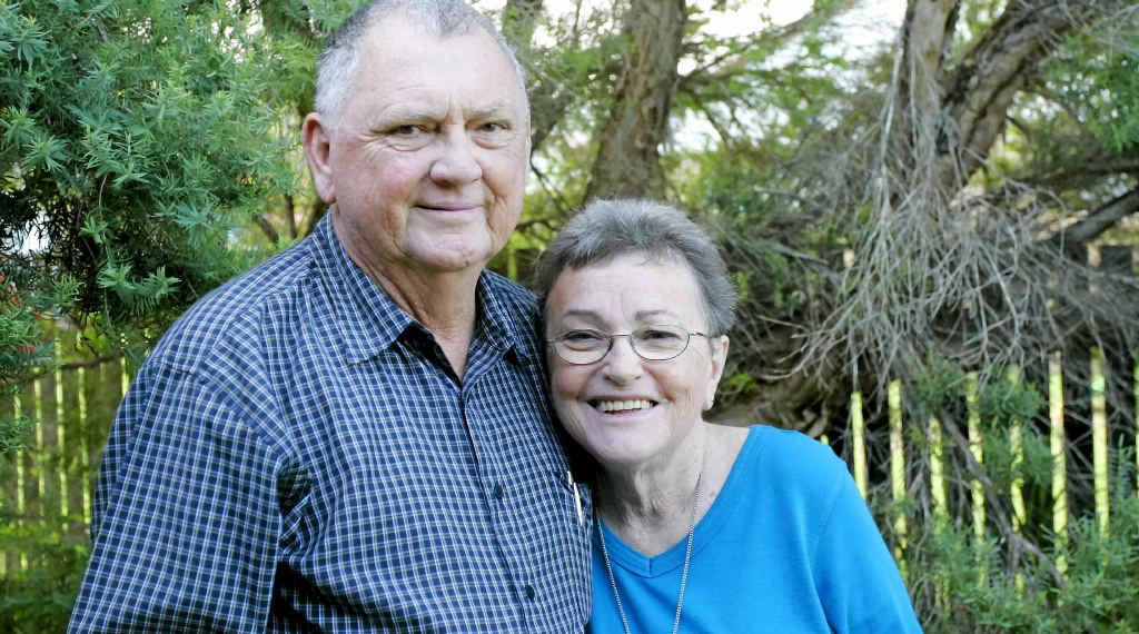 MUCH-LOVED: Lyle Dobbs and his wife Margaret Marion Dobbs at their home in 2011 when Lyle was presented with the National Medal Clasp and the SES Meritorious Medal Clasp. Lyle died on Friday.