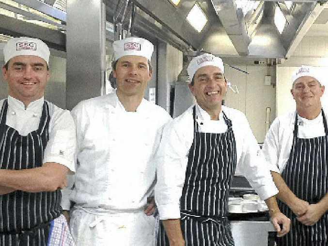 GOOD ADVICE: Jim Rice (left) with fellow chefs Rainer Kruse, Stephen Simmons and Geoff Haddad.