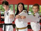 FIGHTING SPIRIT: Cecilia Mason and her two sons Jye, 14, (left) and Dominic, 11, are looking for a new place to practise taekwondo after being forced to move.