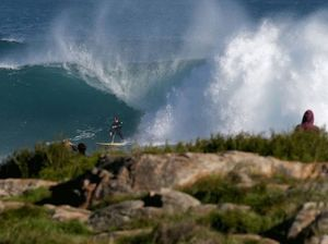 Surfer breaks leg after riding potentially record wave