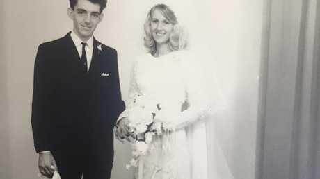 Bill and Lyn O'Brien on their wedding day