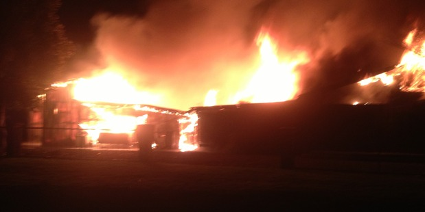 A neighbour said the fire was first noticed by another neighbour who had got up to check on her baby. Photo / Supplied