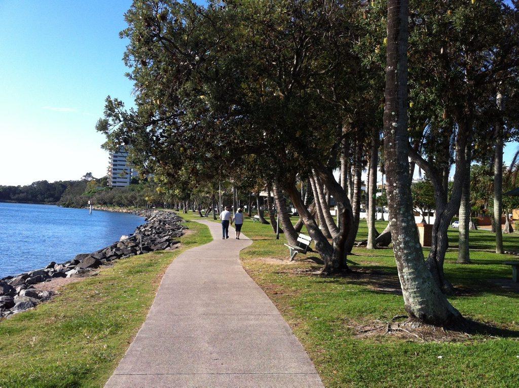 Explore the pathways at La Balsa Park.