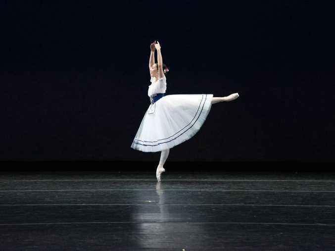 Clunes ballerina Chloe Hollow performing at the Youth America Grand Prix in New York in April. Photo Contributed courtesy Taylor Brant Photography.