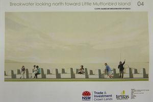 The preferred North Wall design on display at the Cavanbah Centre. 29 JUNE 2015 Photo Gemima Harvey/Coffs Coast Advocate