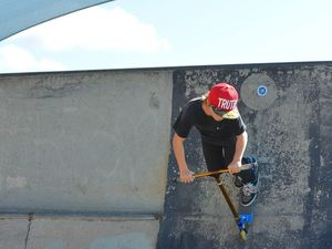 PHOTOS: Youth roll in to skate park during holidays