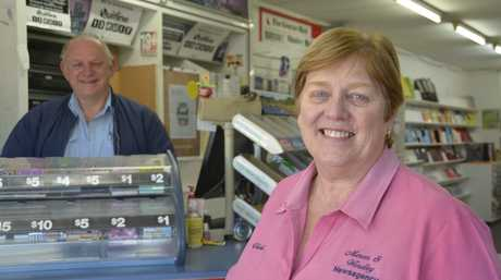 Mercer and Windley Newsagents, run by Vicki Ryan (right) and husband Richard Ryan, has closed after a downturn in business and changing customer trends.