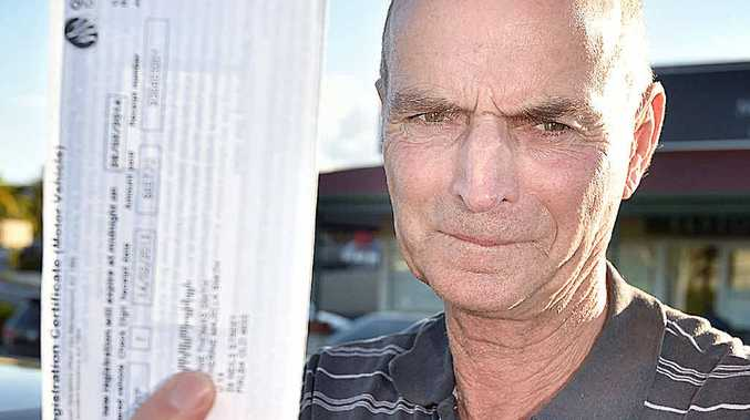 BLOW: Ron Smith is set to be slugged with a car rego hike from today.