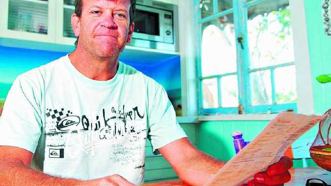 CHEAPSKATE: Coolum's Fred Stoke has drastically cut his electricty bill.