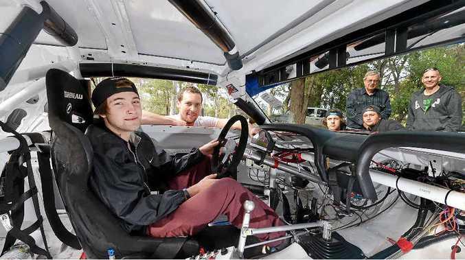 RACE READY: Jake Air at the wheel.