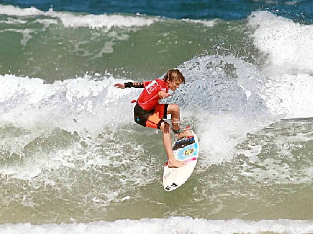 Reef Heazlewood is in form at the Occy's Grom Comp.