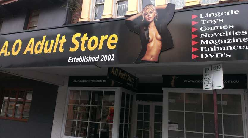 The Russell St sex shop.