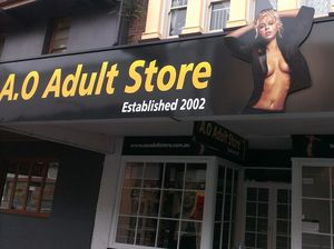 A sex shop in Russell St ... not good, just saying