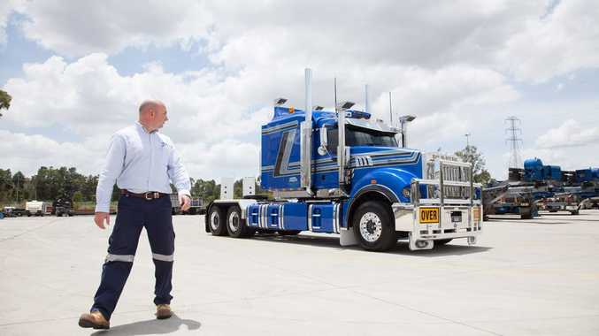 BETTER TIMES: Jon Kelly ordered Big Dog and 40 more Mack trucks last year, however this year the company went into administration.