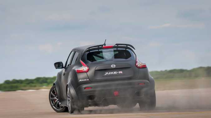 TRACTION OPTIONAL: Juke-R 2.0 was introduced at the Goodwood Festival of Speed in England.