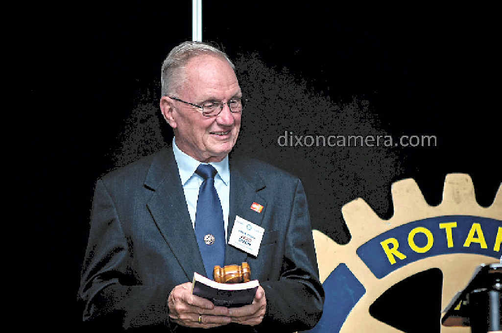 PROUD MOMENT: Rotary Club of Airlie Beach's new president Fred Dixon. PHOTO: DIXON.CAMERA.COM