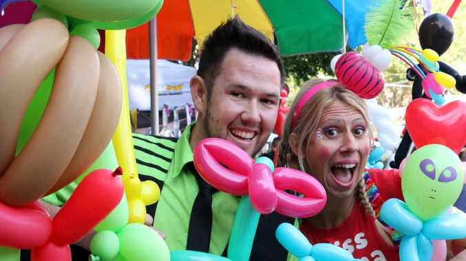 BALLOON MAGIC: Miss Donna The Clown and TwistedMR are holding school holiday workshops at Eumundi Markets teaching the tricks of creative balloon bending.