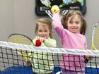 NEW CHILDCARE: Isabella Farrell (left) and Anabelle Sheedy enjoy the new multi-sports field at Springs Early Education. INSET: Owner Kylie Moore is helping children get a healthy start in life.