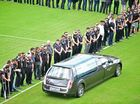 James Ackerman Funeral. Over a thousand Freinds, Family and members of the NRL community celebrated the life of James Ackerman at the Sunshine Coast Stadium. A gaurd of honour around the feild. Photo: Che Chapman / Sunshine Coast Daily
