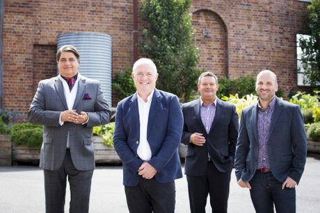 Chef Rick Stein, second from left, pictured with MasterChef Australia judges Matt Preston, Gary Mehigan and George Calombaris.
