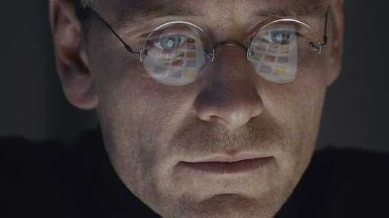 Michael Fassbender in a scene from the movie Steve Jobs.