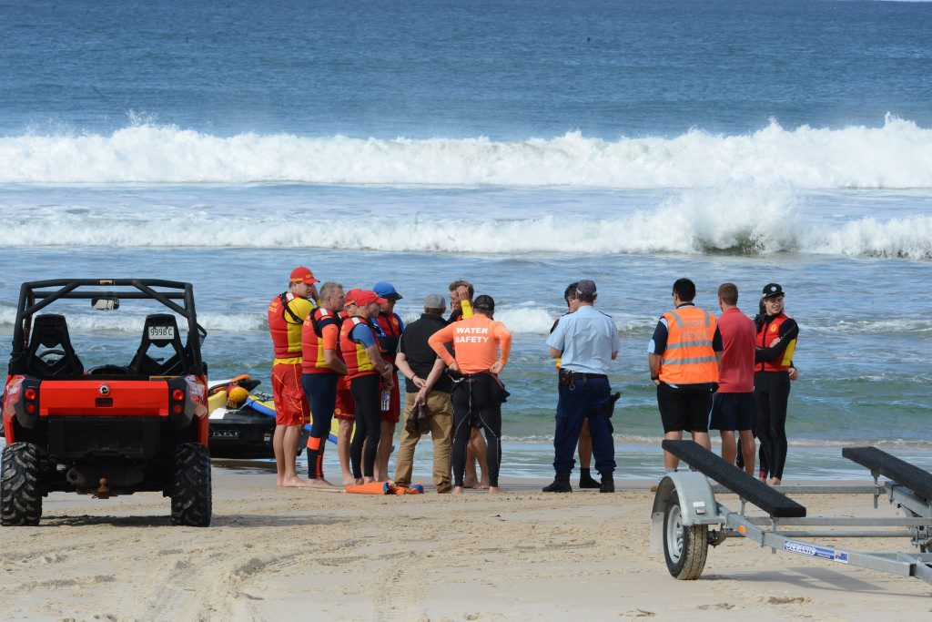 The scene of a shark attack on a 32 year old Ballina man at Lighthouse Beach, Ballina.