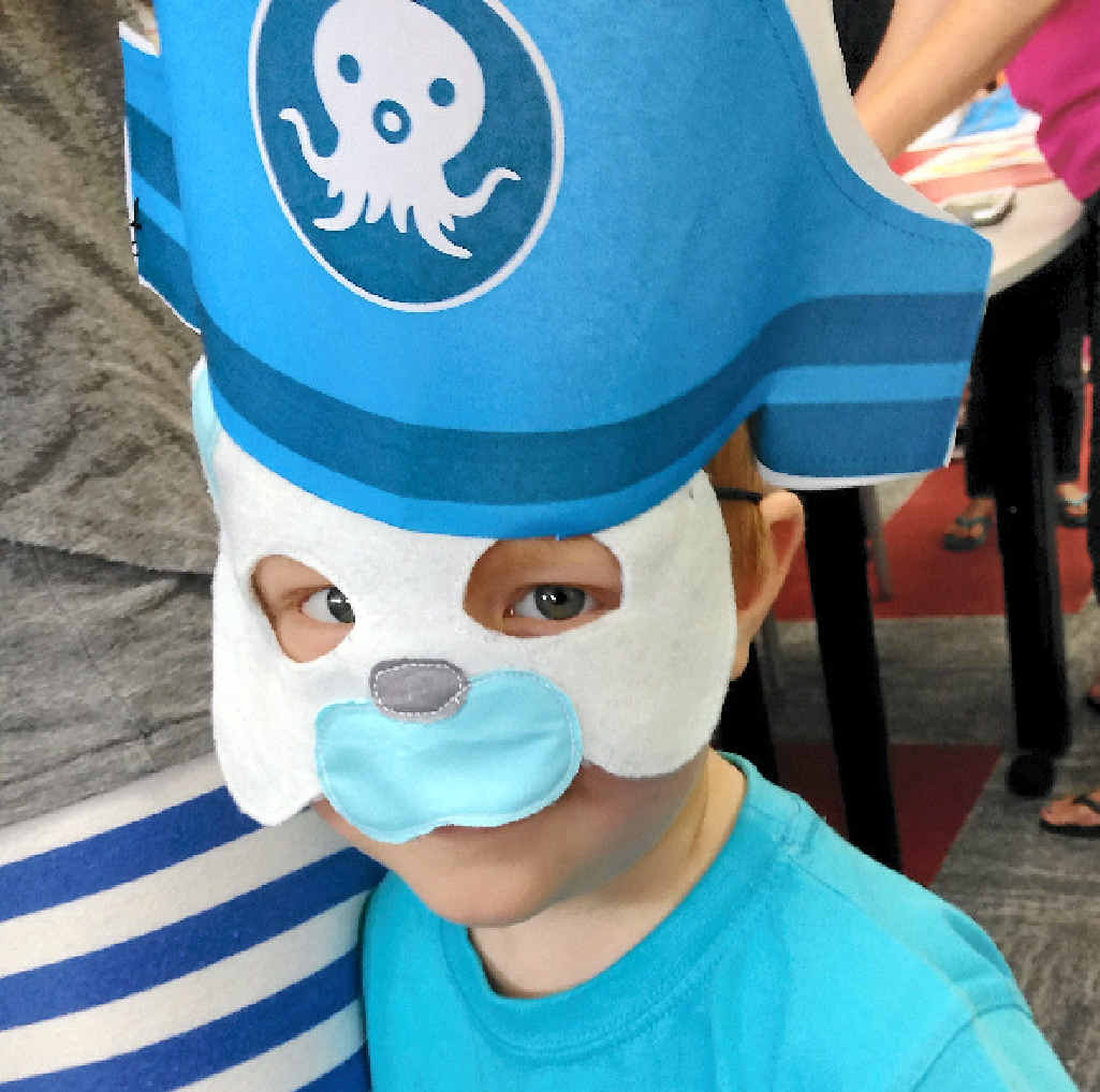 YOUNG FANS: Hayden Hill at the free Octonauts activities morning.