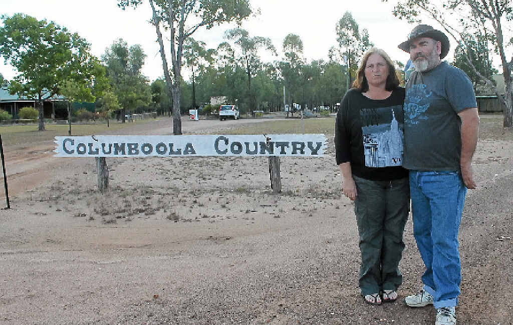 SEEN BETTER DAYS: Columboola Country owner Colin Jackson (right) and partner Venessa Russell.