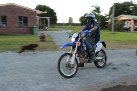 This motorbike was stole from Eton.