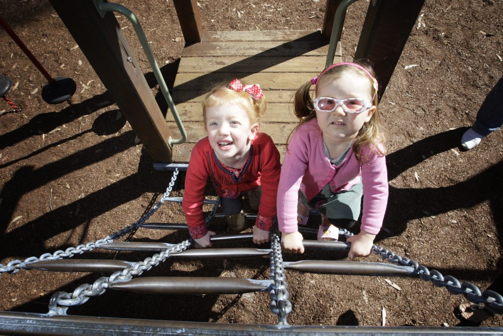 Playing at Pioneer Park, Landsborough, names best park on the Sunshine Coast.