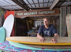 The legendary Tom Wegener at his home in Cooroy where he works and plays. Photo: John McCutcheon / Sunshine Coast Daily
