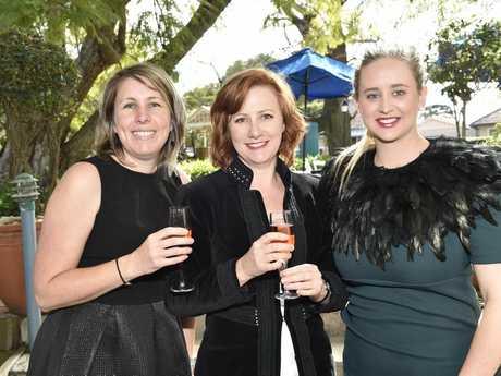 Tammy Wilson, Alie Davenport and Dimity Sullivan enjoy last year's Ladies Diamond Luncheon.