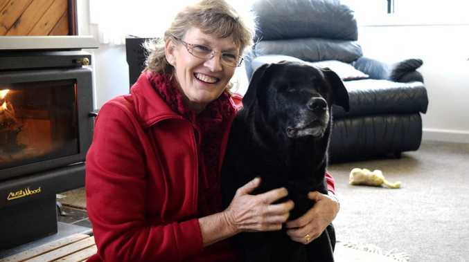 BEST FRIENDS: Cindy Colborne and her beloved blind labrador Zulu spending some quality time together. Photo Stephanie Kay / Western Star